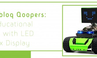 Robobloq Qoopers: An educational robot with LED Matrix Display